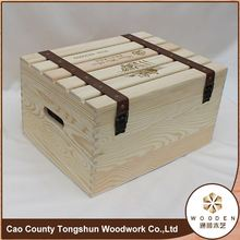 Recyclable MDF Wooden Gift Small Wine Crate Box