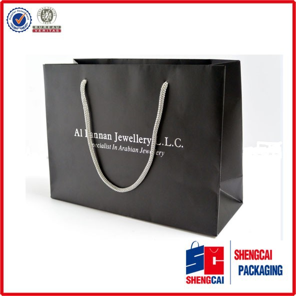 Low cost paper bag carrier bag packaging/art paper shopping bag