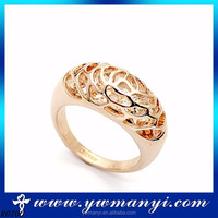 Cheap price simple design alloy rose glod Indian wedding ring designs wholesale R0700