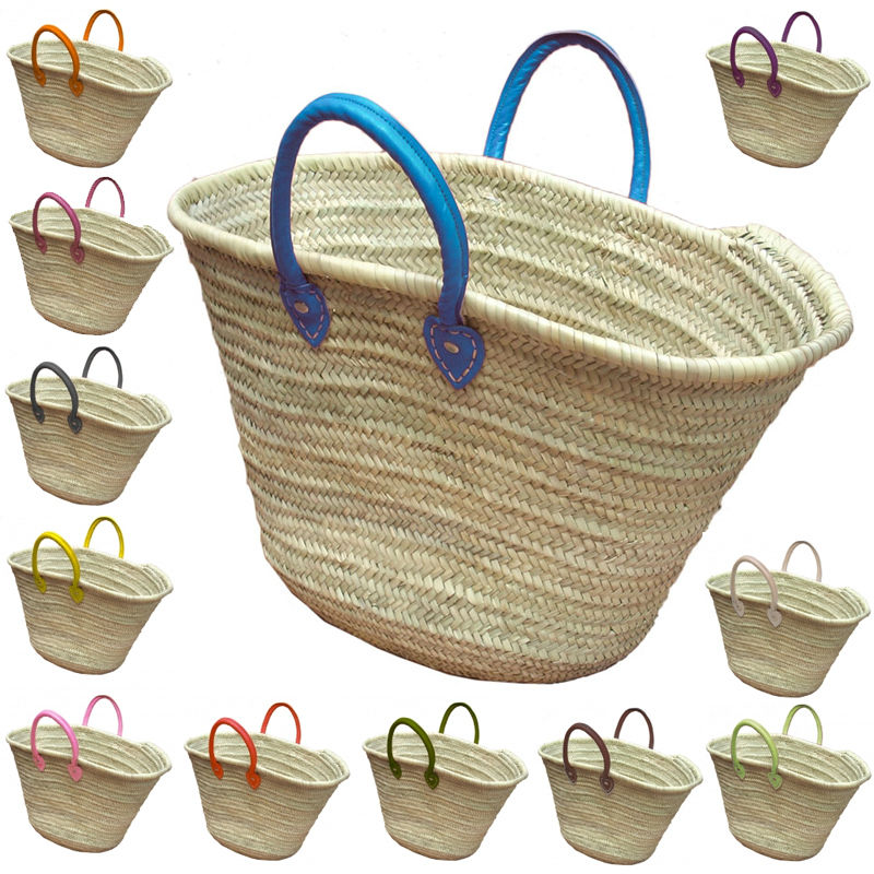 french baskets handles color blue