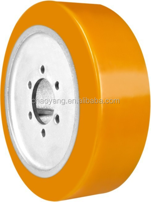 PU diving wheel for Mima electric forklift 343*108mm-J