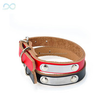 DIY Name Personalized Genuine Leather Pet Dog Collar