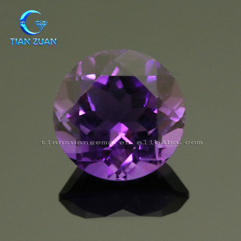 The big size round shape amethyst diamond cut precious natural crystal gemstone
