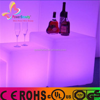 2016 hot promotional colorful remote control bar led furniture led cube seat led table lighting