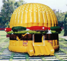 inflatable Burger King bouncy castle, Burger bouncer