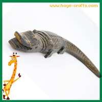 hand carved 3d model wooden animal colorful painting crocodile