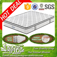 king size compress hotel memory foam pocket spring bed mattress