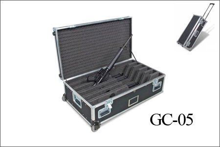 Portable Aluminum Gun case with wheels for weapon storage (suitable for shotgun,rifle) GC-M6
