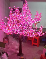 LSWS15112553 Manufacturer Customize garden decor LED Light PINK artificial cherry blossoming tree