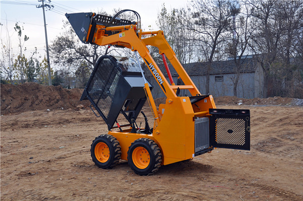 China wheel Bobcat skid steer loader for sale