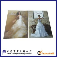 Wholesale Glossy Paper Past Times Design Fashion Wedding Dress Catalog