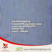 wholesale 100% poplin cotton blue and white stripe fabric