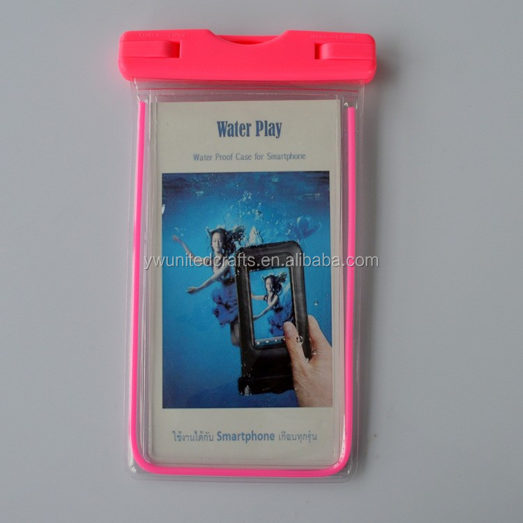cell phone waterproof dry bag/floating waterproof phone bag cheap pvc phone waterproof case