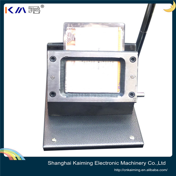 KM customization available metal body high quality manual playing card punching machine
