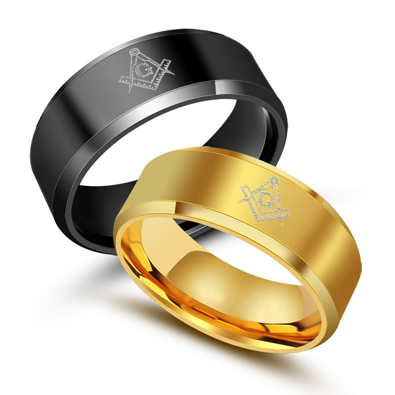Jewelry wholesale, men's ring masonic symbols, religious rings YSS747
