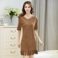 C71214A Hot Sale Latest Dress Designs Fashion Sexy Fitting Office Lady Short Sleeve Girl Dress/Women Wear