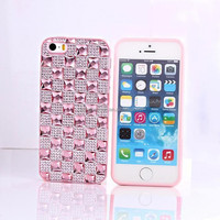 Alibaba Wholesale Diamond TPU Slicone Phone Case For apple iphone 5 5s