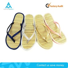 very cheap straw slipper , plastic beach wholesale slipper shoe