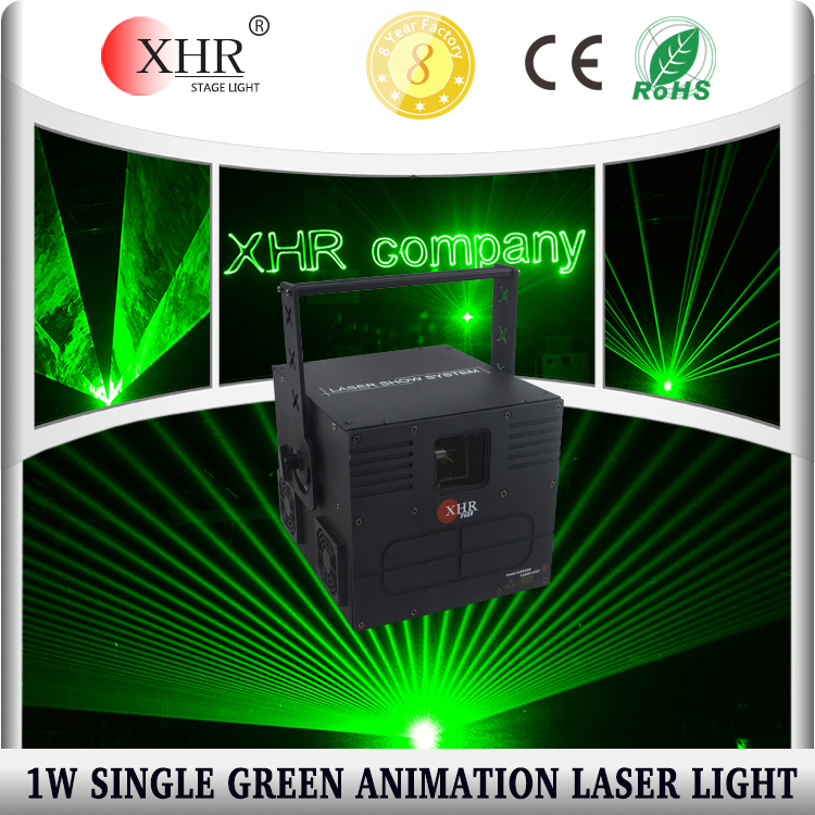 XHR 1000mw Green Animation Laser Light, 1W Disco DJ Home Laser Show Party Green Laser