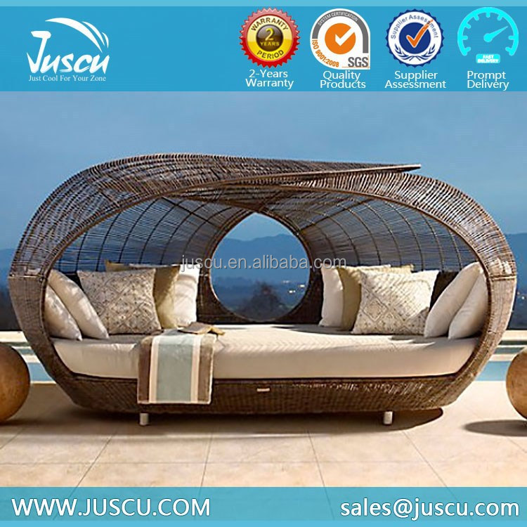 ratan 정원 가구 대형 침대 겸용 소파 야외 가구 원형 야외 해변 ...