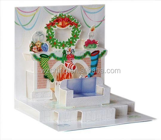 Luxury Chirstmas 3D Greeting card