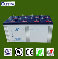 2v 3000ah full capacity sealed lead acid battery (CE ISO9001 ISO14001 ROHS)