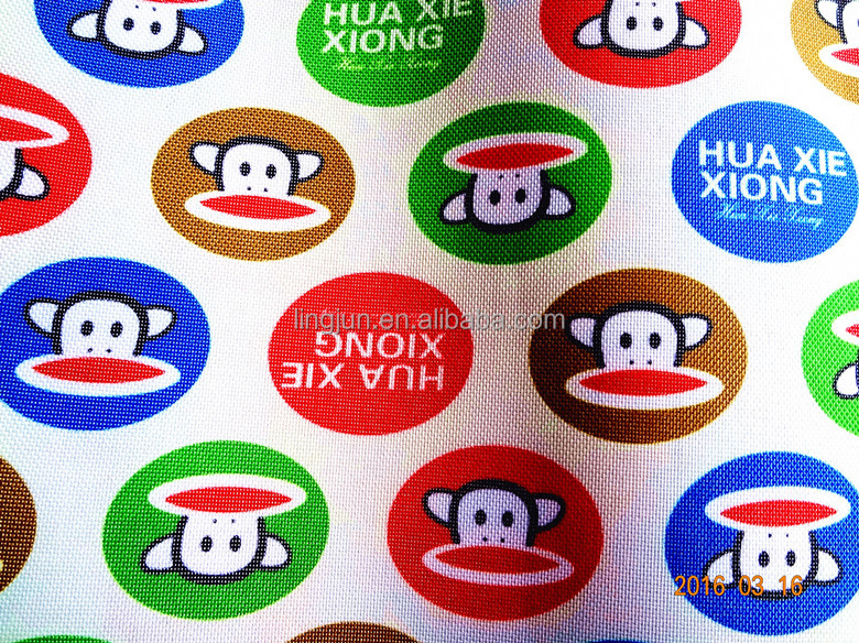 cartoon print fabric, polyester 600D cartoon printed coated with PVC for bag