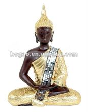 Hot sale polyresin thailand buddha statue for home decor