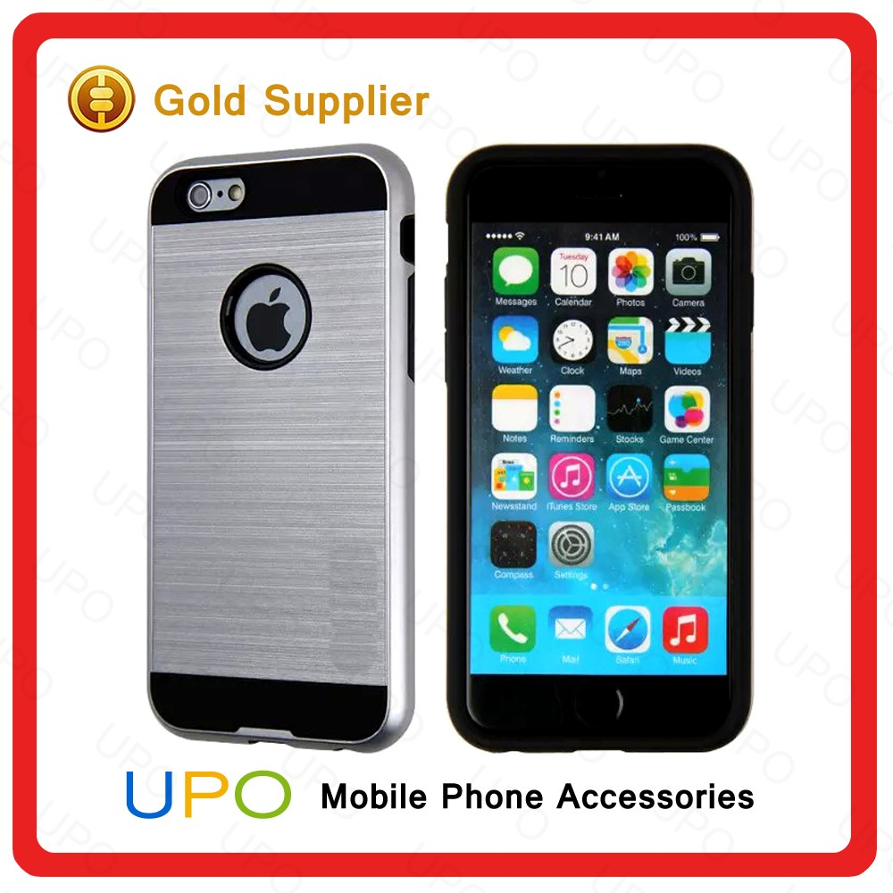 [UPO] 2 in 1 Hard Plastic TPU Shockproof Brushed Combo Mobile Phone Case for iPhone 6