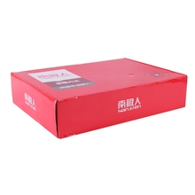 Custom red color carton paper t shirt packaging boxes