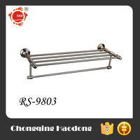 Factory price hotel style chrome and gold finish brass double towel rails