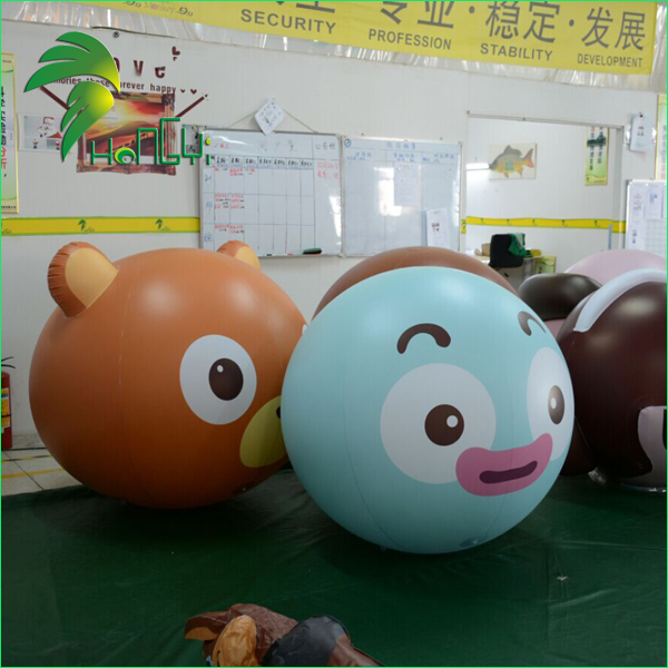 Wholesale Funny Inflatable Character Face Balloon / PVC Advertising Printing Rising Helium Air Balloon