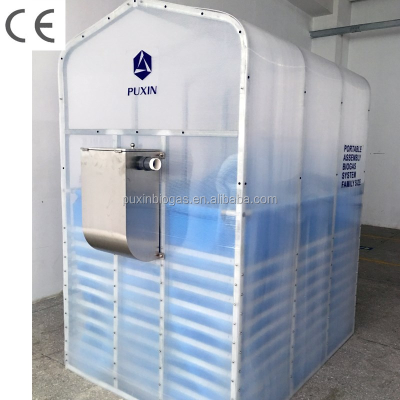 Mini portable assembly biogas plant for biodiesel plant