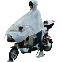 Yuding High Quality Polka Dots EVA E-scooter Women Hooded Poncho Factory Designer Rain Ponchos