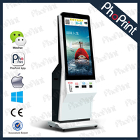 42 Inch Digital Player Wireless 3G Wifi Network photo sharing Kiosk commercial Advertising photo booth/online photo editing