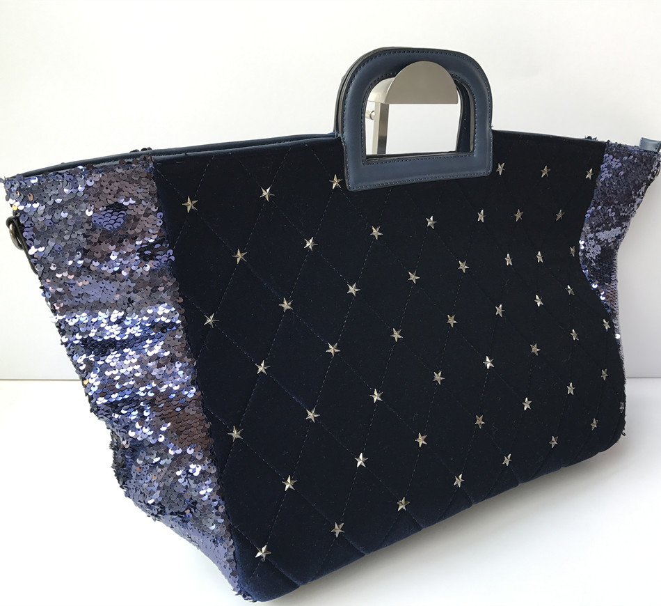 China Suppliers 2018SS Ladies Fashion Style Sequin Material Tote Bag with Especial Design Wholesale Handbag