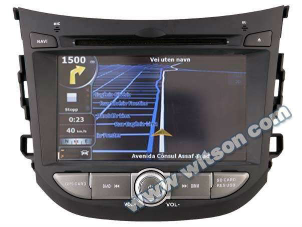 WITSON HYUNDAI HB20 7 inch car dvd player gps m Built-in GPS system