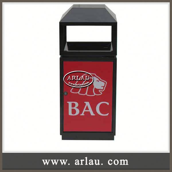 Arlau Curver Recycling Bin,Outdoor Waste Bin Garbage Container Dustbin,Metal Galvanized Outdoor