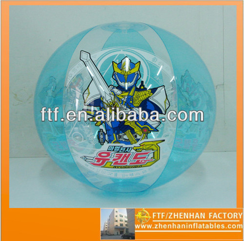 50 cm in diameter PVC inflatable transformers cartoon beach ball