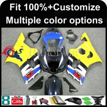 INJECTION MOLDING panels Fairing yellow blue white For Suzuki K3 GSXR-1000 2003-2004 Bodywork Kit Set Fit GSX R1000 GSXR1000 20