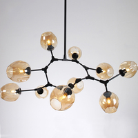 Individuality Painting scrub glass light fittings cast iron chandelier contemporary pendant lights for cafe