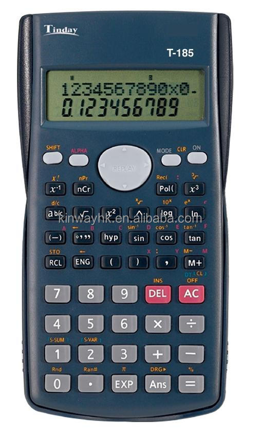 scientific calculator with plastic cover