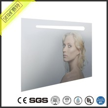 led Bordered Large Mirror Rectangle Shape led Lighted Bathroom Vanity Mirror