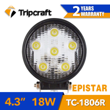 Tripcraft car accessories DIY 18w auto led work light lamp, 4.3 inch working light 12-24v