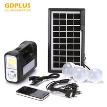 Portable Solar Panel Lithium Battery Home Solar System Led Solar Light GDPLUS 8017 New