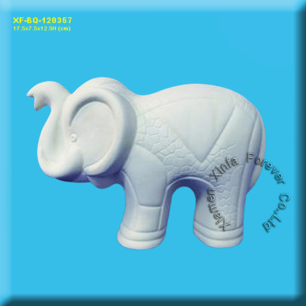 wholesale ceramic bisque elephant figurine