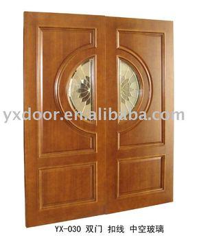 Double leaf door yx 030 buy double leaf door glazing for Puertas metalicas modernas dobles