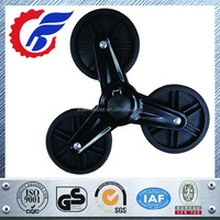 100mm stair climbing rubber wheel with plastic bracket and three wheels
