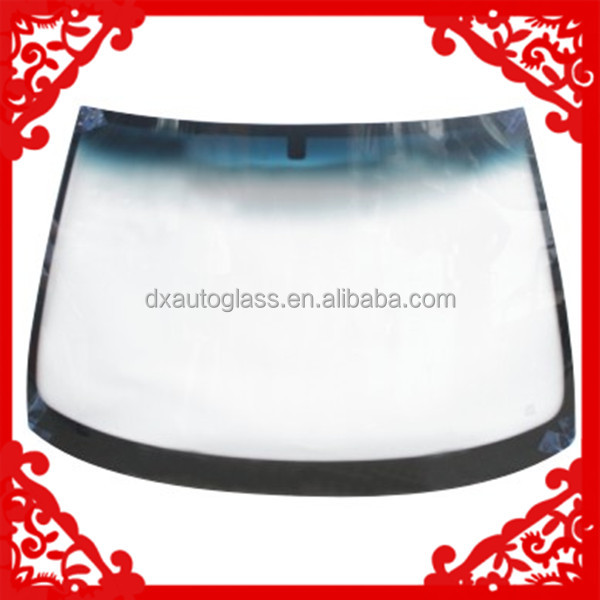 made in guangzhou high grade factory price unbreakable front car glass
