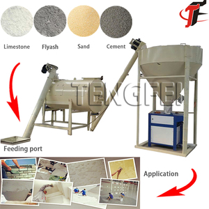 Manufacturer of Semi-auto Low Price Ready Mix Dry Plaster Mortar Skim Coat Powder Plant Production Line Drymix Mortar Machine